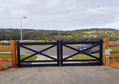 Hereford Gate with Mesh Infills